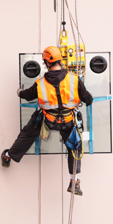 Commercial Glazing - High level and rope access glass replacement