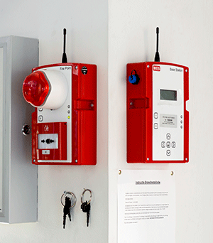 Wes+ wireless fire alarm systems for construction sites