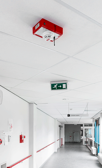 WES+ construction site fire safety system in use