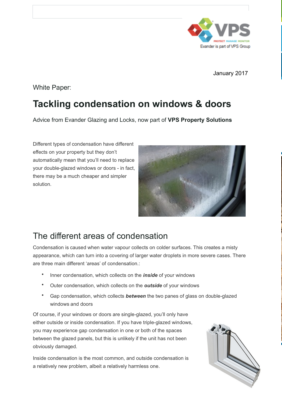 How To Tackle Condensation On Windows And Doors
